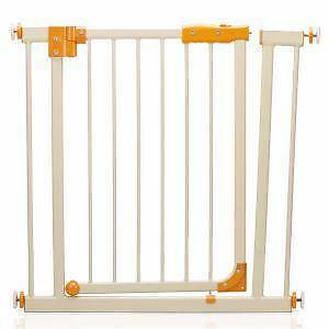 Safety Gate 74cm - 87cm White with Orange Trim - 40$ for 1 set. Stanhope Gardens Blacktown Area Preview