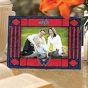 Washington Capitals Art Glass Horizontal Picture Frame (New)