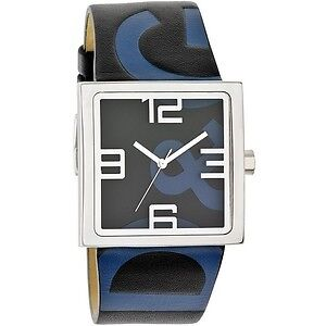 D&G Watch, RARE  Black and Blue Logo Leather Strap DW0037 Windsor Region Ontario image 1