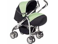 3 in 1 travel silver cross pram with brand new car seat and carrycot