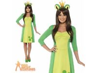 LADIES /TEENS PRINCESS FROG FANCY DRESS OUTFIT SIZE 6/8 GREAT FOR PARTY OR PLAY