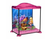 girls fish tank with fish