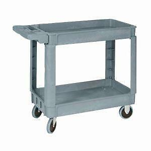 NEW 2 LAYER GRAY UTILITY ROLLER TOOL CART 500 LBS 3180002