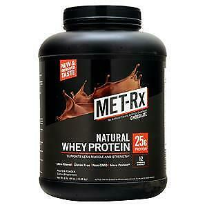 MET-Rx - Protein Powder - 100% Natural Whey - Chocolate 5lb