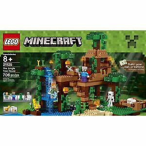 Lego Minecraft Jungle Tree House 21125 & The Fortress 21127