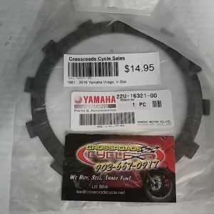 1981 - 2016 Yamaha Virago, V-Star Clutch Friction Plate (Sold In