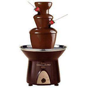chocolate fountain fondue sets ebay. Black Bedroom Furniture Sets. Home Design Ideas