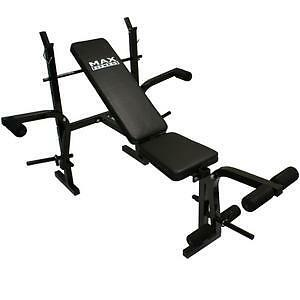 MAX-FITNESS-WEIGHTS-BENCH-MULTI-HOME-GYM-DUMBELL-WORKOUT-EQUIPMENT-ABS-LEG-BAR