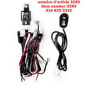 Universal Wiring Kit Fog Light Wiring Harness +Fuse +Switch +Rel
