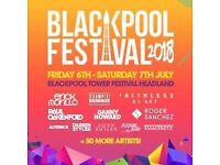 2x Friday tickets BLACKPOOL FESTIVAL - 6th July - Example, Faithless