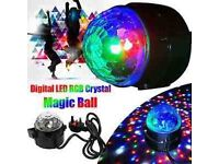 Disco DJ Stage Light Club Party Crystal Ball Effect RGB Rotating LED lighting new
