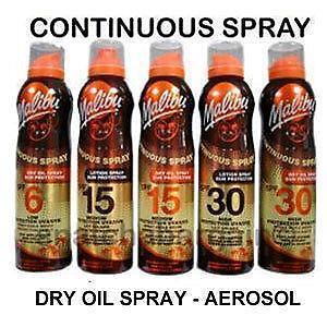 Malibu Dry Oil Spray Ebay