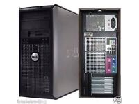 Windows 7 Dell Core 2 QUAD 2.60GHz Tower PC Computer - 4GB RAM - 500GB HD Wi-Fi