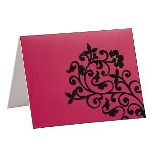 100 Fuschia Pink Blank Invitation Cards Menu Cards Thankyou