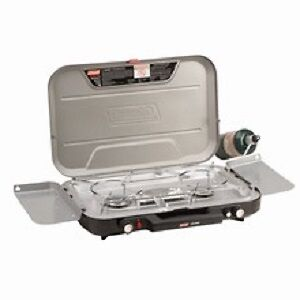 COLEMAN EVEN TEMPT 3 BURNER STOVE  WITH GRIDDLE # 2000020935