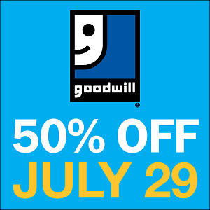 50% off EVERYTHING sale at your Woodstock Goodwill