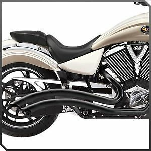 **SALE** VICTORY MOTORCYCLES STAGE-1 X BOW BLACK EXHAUST