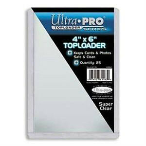 "Ultra Pro .... 4"" x 6"" .... TOP LOADERS"