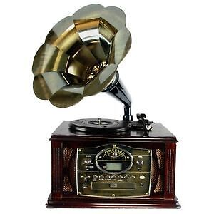 The 50's Executive Antique Trumpet Horn /Cd/Mp3/Usb Record&Mor