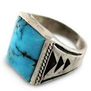 Mens Vintage Turquoise Ring