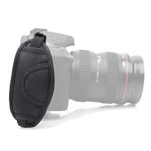 *NEW* Black Leather Camera Non-slip Hand Strap for Canon DSLR Kingston Kingston Area image 2