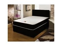 BRANDNEW Double Bed & Memoryfoam Mattress Factory Price Fast Delivery 7 Days a week BLACK/ CREAM