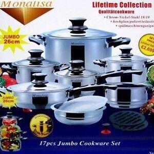 17 Piece Monalisa Jumbo Cookware Set - NEW IN BOX