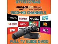 New 2nd gen firestick with 1900+HD channels +full tv guide & vod section for perfect tv & sports etc