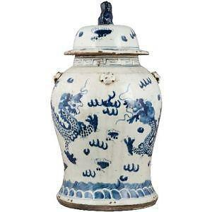 Blue And White Porcelain Ginger Jar Ebay