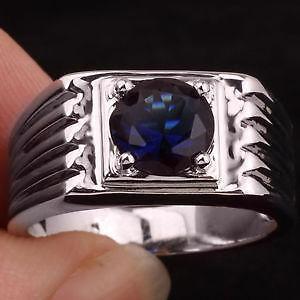 Mens Sapphire Ring Ebay