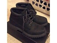 GENUINE BLACK TIMBERLANDS SIZE 6.5 WORN ONCE STILL IN BOX