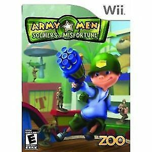 BRAND NEW (SEALED PACKAGE) Wii ARMY MEN SOLDIERS OF MISFORTUNE