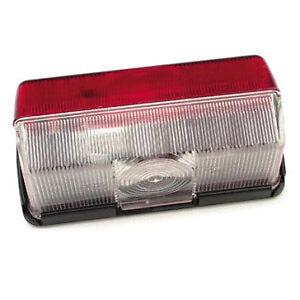 JOKON RED/WHITE OBLONG SIDE MARKER LAMP/LIGHT SPARE LENS MOTORHOME/CAMPER VAN