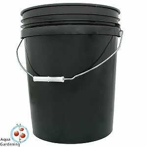 BLACK PLASTIC BUCKET / PAIL 20L WITH LID - FOOD GRADE (PP) Enoggera Brisbane North West Preview