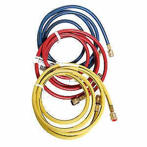 "Robinair 60096 96"" Color-Coded Enviro-Guard Hose for R-134A, (Se"