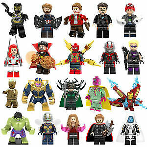 Marvel LEGO minfigs and sets.