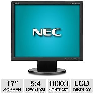 "NEC COMPUER LCD MONITOR 17"" ACCUSYNC AS171 ECO MODE SCREEN"