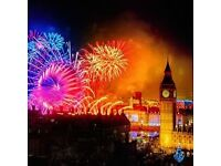 2 x London NYE Eve Fireworks 2016-2017 Ticket - Best Blue Area