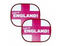 12 Pkts England Car Sun Shades 2pk - 24 Shades in total Only £10 FREE POSTAGE