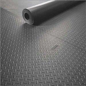 Metallic silver garage flooring