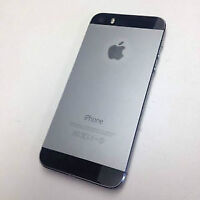Black iPhone 5s, 64 gb, Bell/Virgin, no contract *BUY SECURE*