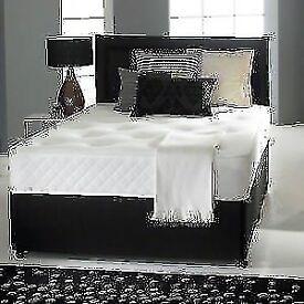"MEMORY FOAM DIVAN BED SET + 10"" DUAL TURN MATTRESS + HEADBOARD (OPTIONAL STORAGE)"