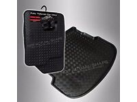 Vauxhall COMBO 2 seats (2002 - 2011) Rubber Car Mats + Tailored Boot Liner