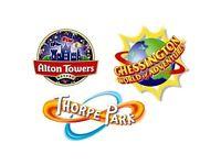 Thorpe park & Alton Towers Tickets ! ! ! ! !