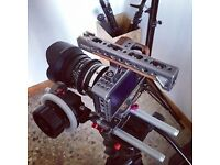 Blackmagic Pocket Camera + Tilta Rig and follow focus + External Monitor