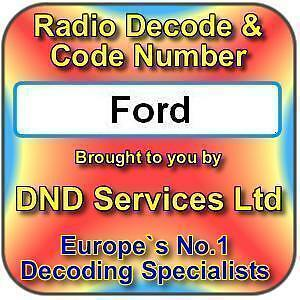 ford radio code decode unlock by serial number ebay. Black Bedroom Furniture Sets. Home Design Ideas
