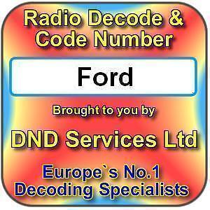 ford radio code decode unlock by serial number ebay. Black Bedroom Furniture Sets. Home Design Ideas