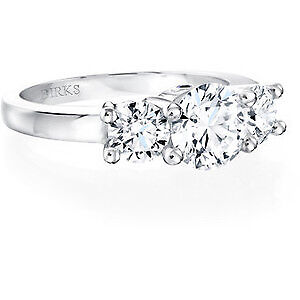 BIRKS PLATINUM WITH DIAMONDS ENGAGEMENT RING FROM THE AMORIQUE!