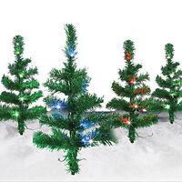 SOLAR LITTLE PINE TREES (SET OF 4), HOLIDAYS, LED LIGHTS