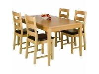 NEW - Winslow Real Oak Veneer Wood Dining Table only £50